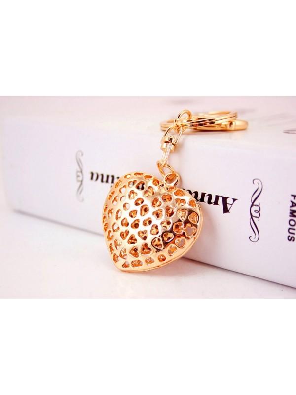 Луксозен дамски ключодържател - Златно сърце